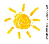 watercolor sun  rays flat icon...   Shutterstock .eps vector #268280135