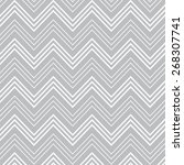 gray and white   stripes... | Shutterstock .eps vector #268307741