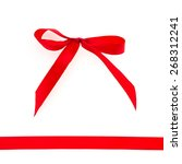 red ribbon isolated on white... | Shutterstock . vector #268312241