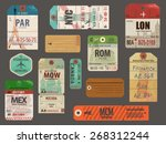 vintage baggage and luggage... | Shutterstock .eps vector #268312244