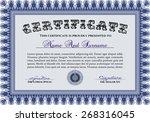 certificate   diploma of... | Shutterstock .eps vector #268316045