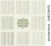 set of 8 geometric seamless... | Shutterstock .eps vector #268318451