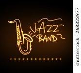 neon sign jazz band | Shutterstock .eps vector #268323977