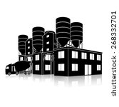 silhouette factory building for ... | Shutterstock .eps vector #268332701