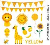 vector elements in yellow color | Shutterstock .eps vector #268345679