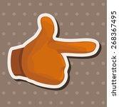 hand theme elements | Shutterstock .eps vector #268367495