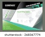 vector brochure flyer design... | Shutterstock .eps vector #268367774
