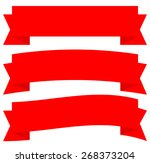 different horizontal banners in ... | Shutterstock .eps vector #268373204