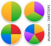pie chart vector. pie chart ... | Shutterstock .eps vector #268373291