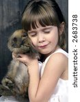 a young girl loving on her... | Shutterstock . vector #2683738