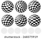 Checkered Sphere Set With...