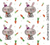 vector pattern with  watercolor ... | Shutterstock .eps vector #268376531