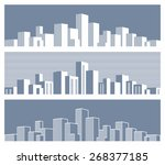 stylized panorama of the city | Shutterstock .eps vector #268377185