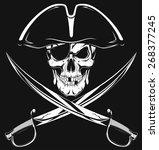 pirate skull | Shutterstock .eps vector #268377245