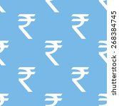 rupee blue with white seamless... | Shutterstock . vector #268384745