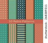 set of ten retro patterns | Shutterstock .eps vector #268389311