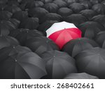 umbrella with flag of poland... | Shutterstock . vector #268402661