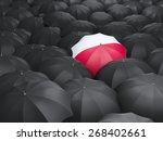 umbrella with flag of poland... | Shutterstock . vector #268402661