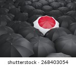umbrella with flag of japan... | Shutterstock . vector #268403054