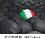 Umbrella With Flag Of Italy...