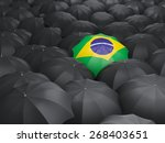 Umbrella With Flag Of Brazil...