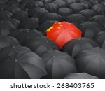 Umbrella With Flag Of China...