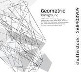 geometric background.vector... | Shutterstock .eps vector #268403909
