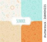 vector seamless pattern ... | Shutterstock .eps vector #268404221