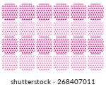 heart of love   vector... | Shutterstock .eps vector #268407011
