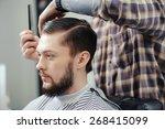 Lumberjack Style. Male Barber...