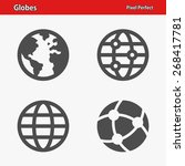 globes icons. professional ... | Shutterstock .eps vector #268417781