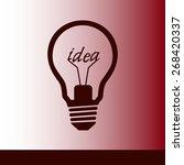 light lamp sign icon. idea... | Shutterstock .eps vector #268420337