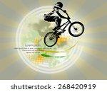 bmx biker. vector | Shutterstock .eps vector #268420919