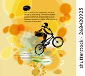 bmx biker. vector | Shutterstock .eps vector #268420925