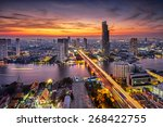 Bangkok City At Sunset  Taksin...