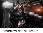 muscle athlete man in gym... | Shutterstock . vector #268426619