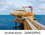 oil and gas platform in the... | Shutterstock . vector #268428965