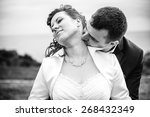 an image of newly married... | Shutterstock . vector #268432349