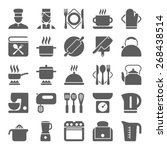 cooking and kitchen icons | Shutterstock .eps vector #268438514