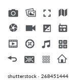 media icons    apps interface | Shutterstock .eps vector #268451444