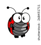 red and black spotted smiling...   Shutterstock . vector #268451711