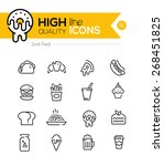 junk food line icons including  ... | Shutterstock .eps vector #268451825