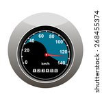 car speedometer showing someone ... | Shutterstock . vector #268455374