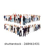 team over white hierarchy... | Shutterstock . vector #268461431