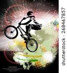 vector of sport. bmx trick | Shutterstock .eps vector #268467857