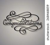 vector congratulations... | Shutterstock .eps vector #268468859