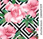 Roses Pink Painting Pattern ...