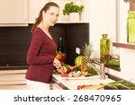 women in the kitchen   Shutterstock . vector #268470965