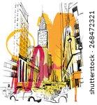new york sketch   Shutterstock .eps vector #268472321