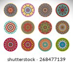 mandalas collection. round...   Shutterstock .eps vector #268477139